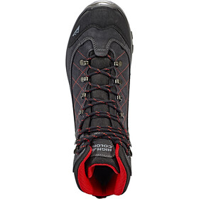 High Colorado Gaebris Mid High Tex Zapatillas de senderismo Hombre, black/grey/red